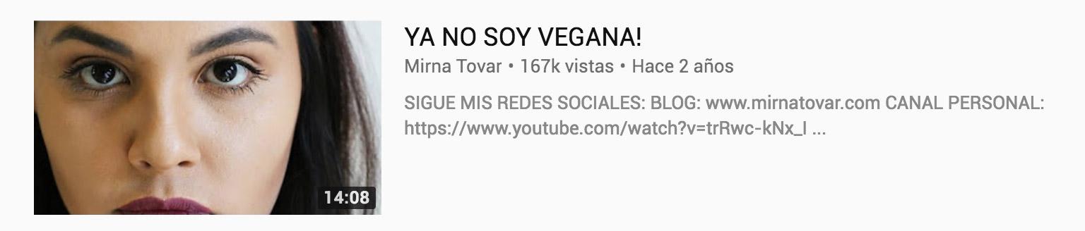 youtuber vegana mirna tovar